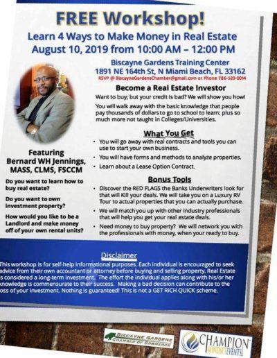Bernard Real Estate Workshop